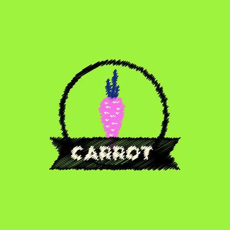 carotene: flat icon design collection carrot emblem Illustration