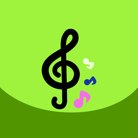 flat: flat vector icon design collection music note