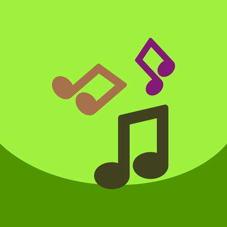 flat vector icon design collection music note
