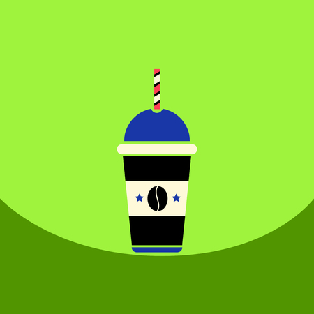 flat vector icon design collection cold coffee to go