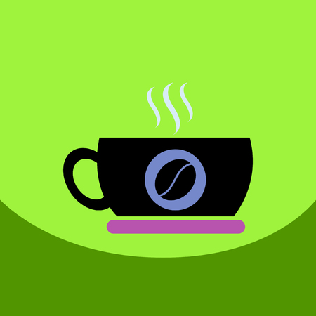flat vector icon design collection cup of hot coffee