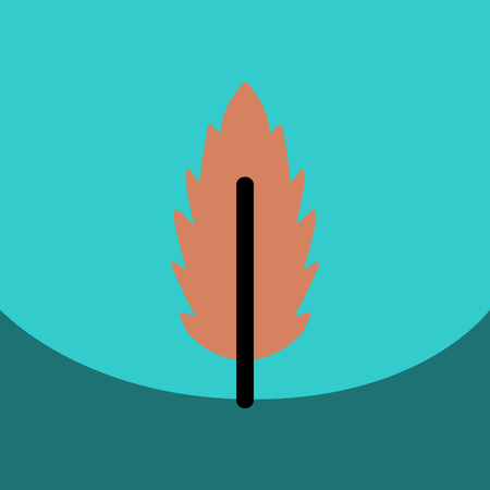 poplar: flat vector icon design collection leaf of tree