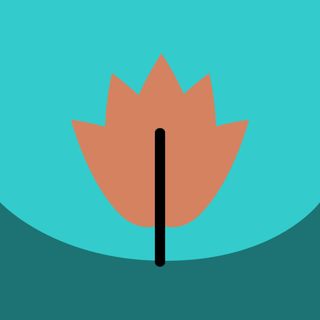 flat vector icon design collection leaf of tree