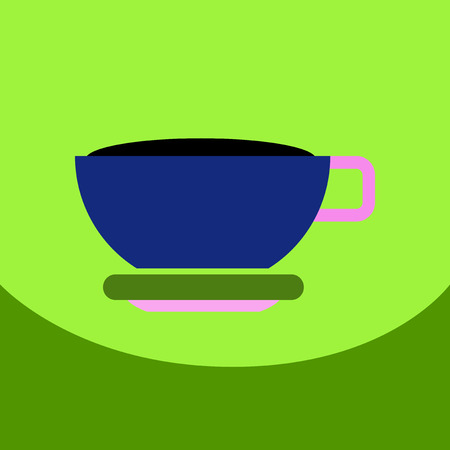 flat vector icon design collection cup of tea Illustration