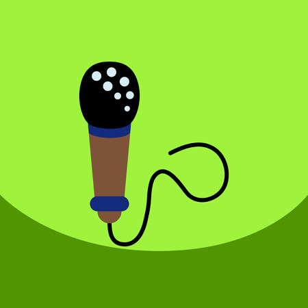 talker: flat vector icon design collection microphone in flat style