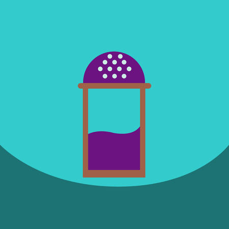 flavored: flat vector icon design collection salt shaker Illustration