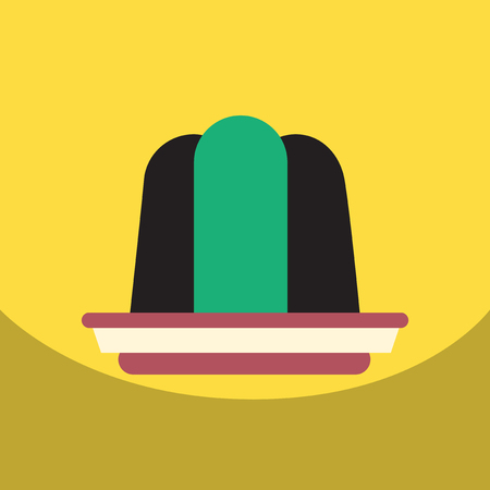 wobbly: flat vector icon design collection jelly dessert