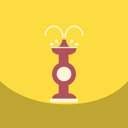dessert buffet: flat vector icon design collection chocolate fountain Illustration