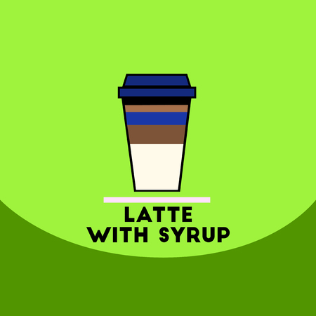 macchiato: flat vector icon design collection latte with syrup