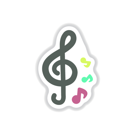 color label design collection of music note