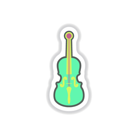 double volume: color label design collection of musical instrument violin