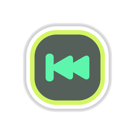 color label design vector icon design button music