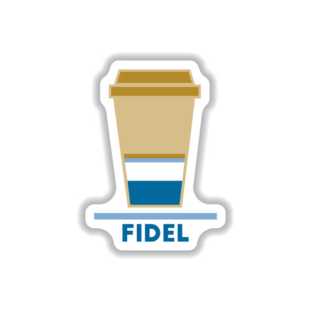 Label Frames and badges vector icons coffee emblem fidel coffee to go