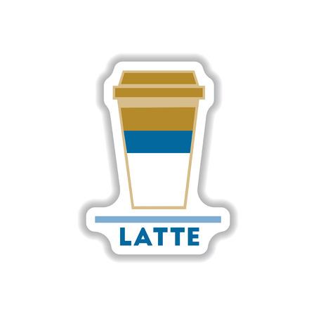 Label Frames and badges vector icons coffee emblem latte to go Illustration