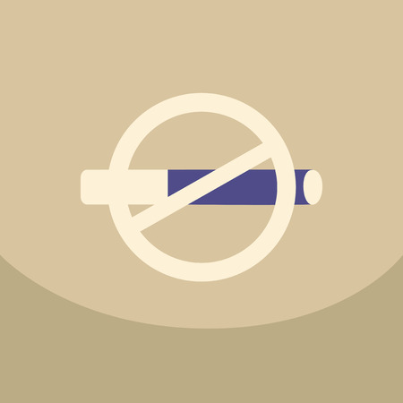 pernicious: No smoking sign on colour background crossed-out cigarette in a circle Illustration