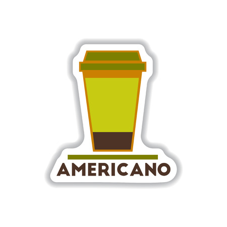 Label Frames and badges vector icons coffee emblem of americano