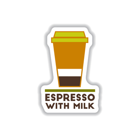 coffe break: Label Frames and badges vector icons coffee emblem espresso with milk Illustration
