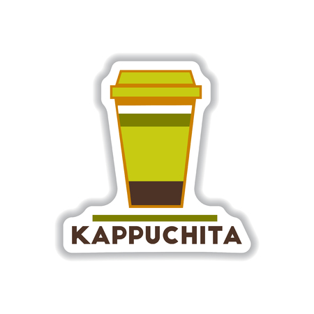 Label Frames And Badges Vector Icons Coffee Emblem Kappuchita ...