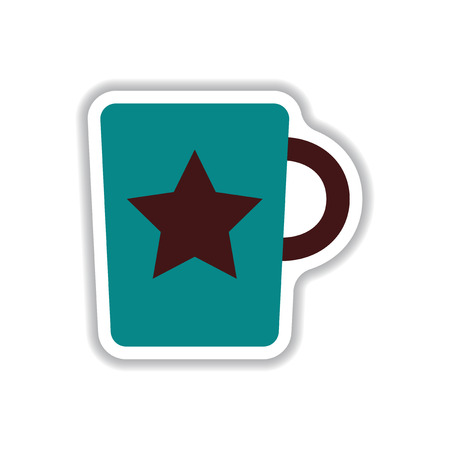 coffe break: Label Frames and badges vector icon design collection coffee emblem of hot coffee