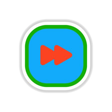 Color label design vector icon design button music Illustration
