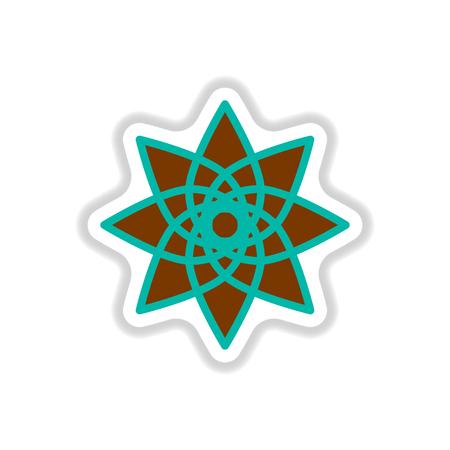 Label icon on design sticker collection Arabic sign