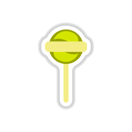 Label icon on design sticker collection bonbon candy
