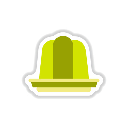 wobbly: Label icon on design sticker collection jelly dessert