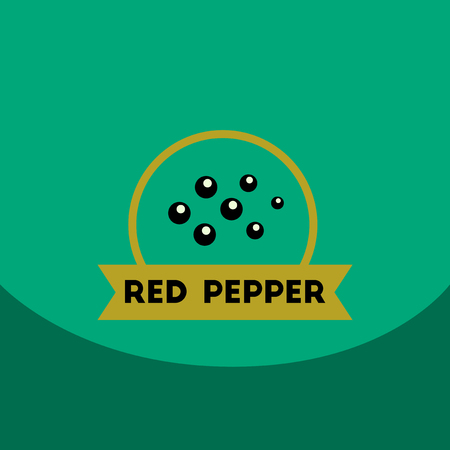 indian mustard: flat vector icon design collection Kitchenware seasoning red pepper Illustration