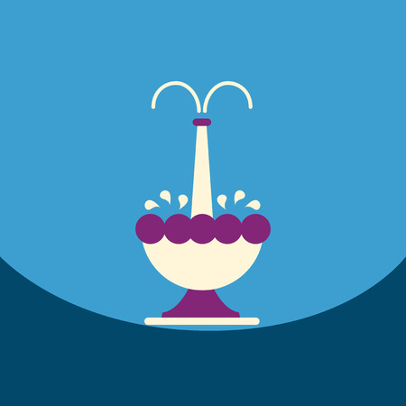flat vector icon design collection chocolate fountain Illustration