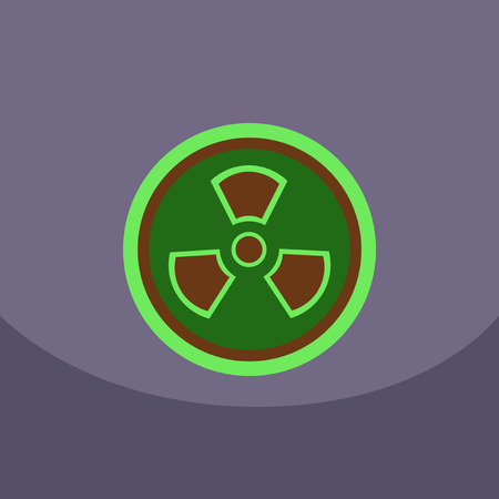 plutonium: Radiation Icon. May present radiation threat or Danger, Nuclear icon, Nuclear energy, nuclear power Vector illustration.