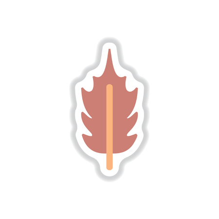 Label with leaf shadow vector icon design collection tree leaf
