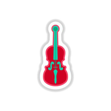 xilofono: colección de diseño de etiqueta de color de instrumento musical violín