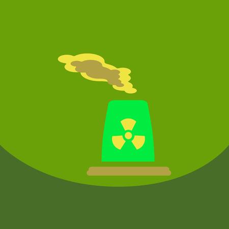 black smoke floating from Multiple smokestack Nuclear energy