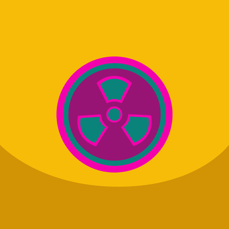 Radiation Icon. May present radiation threat or Danger, Nuclear icon, Nuclear energy, nuclear power Vector illustration.