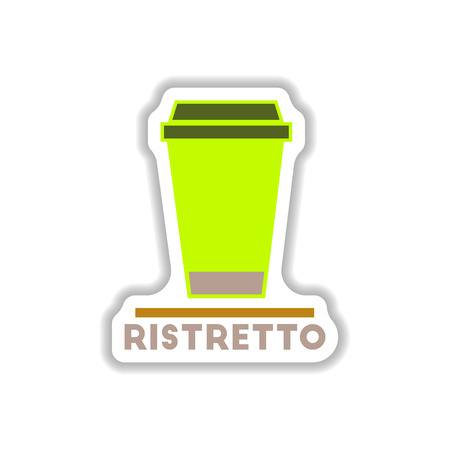 Label Frames and badges vector icons coffee emblem ristretto to go