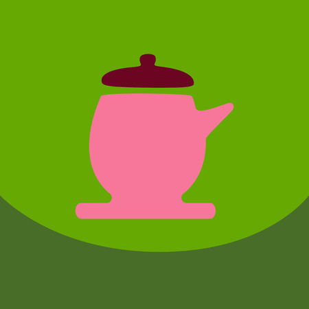 The teapot icon. Tea ceremony symbol Flat Vector illustration Illustration