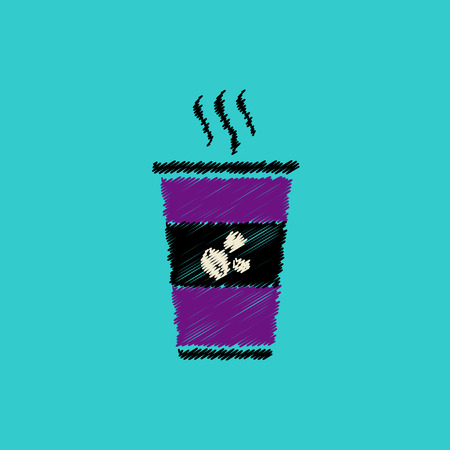 pause icon: flat vector icon design collection  cup of hot coffee