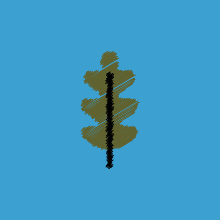 poplar: flat vector icon design collection  tree leaf