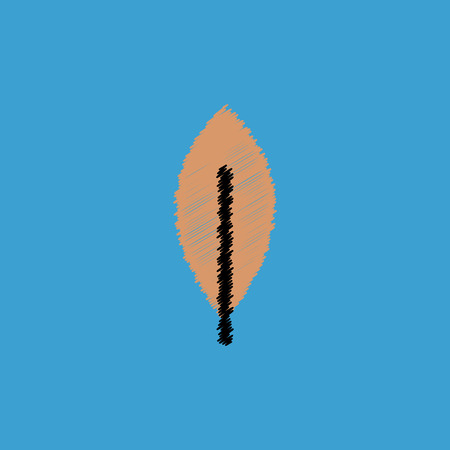 aspen tree: flat vector icon design collection  tree leaf
