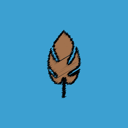 aspen leaf: flat vector icon design collection  leaf of tree