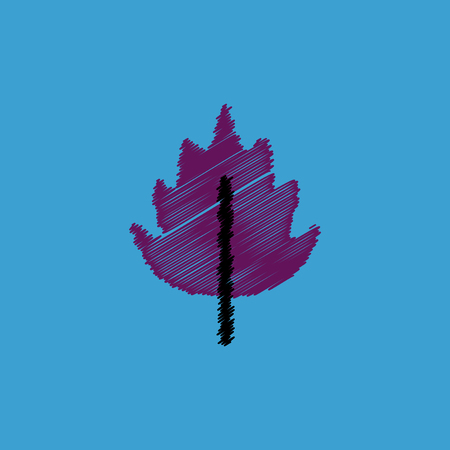 aspen tree: flat vector icon design collection  leaf of tree