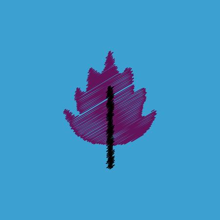 clover leaf shape: flat vector icon design collection  leaf of tree