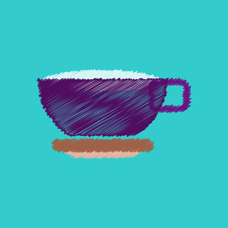 flat vector icon design collection  cup of tea