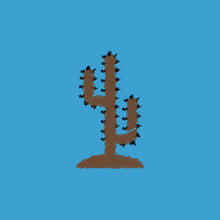 flat vector icon design collection  cactus sign