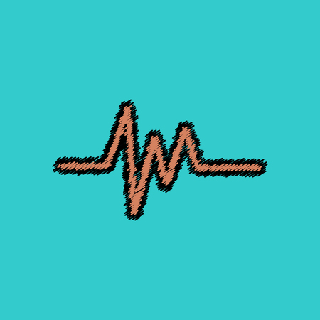 flat vector icon design collection  sound and audio waves