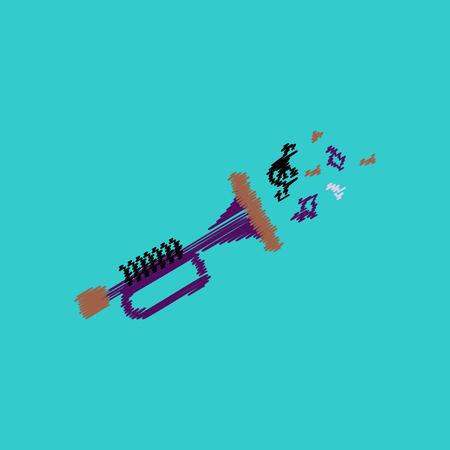 icona del disegno vettoriale raccolta piatta strumento musicale