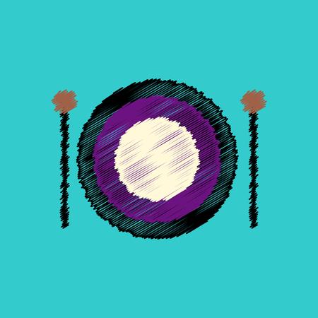 xilofono: flat vector icon design collection  musical instrument
