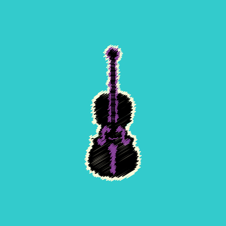 flat vector icon design collection  musical instrument