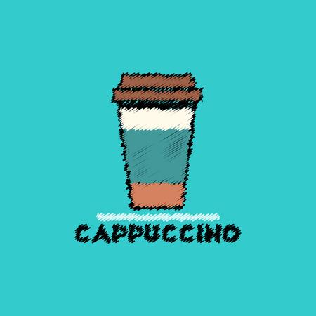 flat vector icon design collection  cappuccino to go