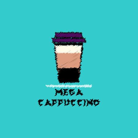 flat vector icon design collection  mega cappuccino Illustration